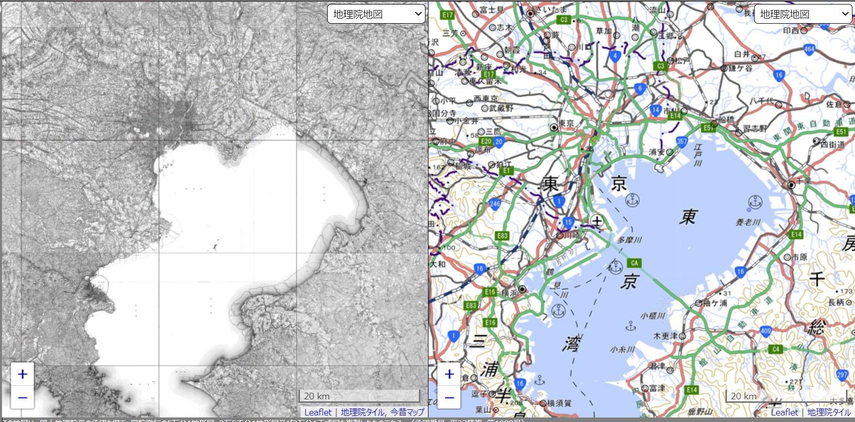 明治時代と令和時代の東京湾の比較